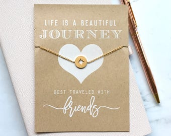 Friendship Card with Compass Bracelet