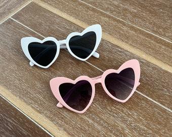 Retro Heart Sunglasses  |  Bridesmaid Sunglasses  |  Bachelorette Party Sunglasses