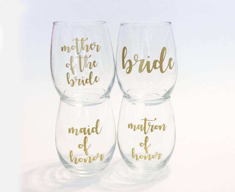 260ea4f4f6e Set of 4 Custom Wedding Party Titles Bridesmaid Maid / | Etsy