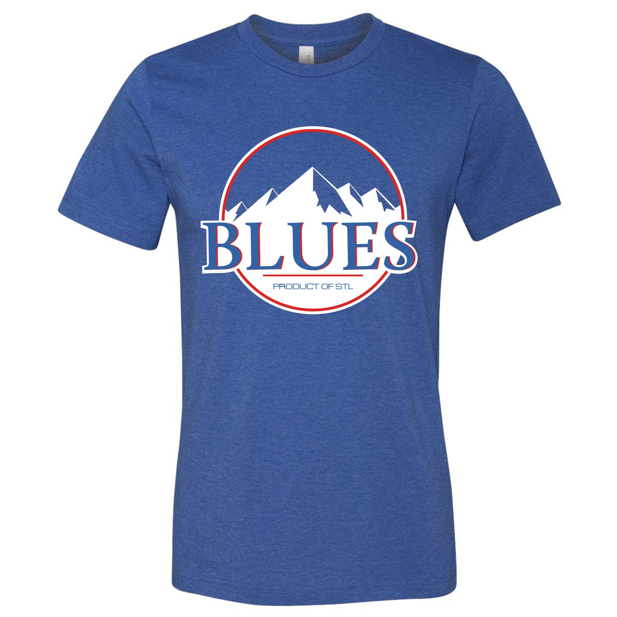 St. Louis Blues Hockey Mountains Short Sleeve Heather Royal   Etsy