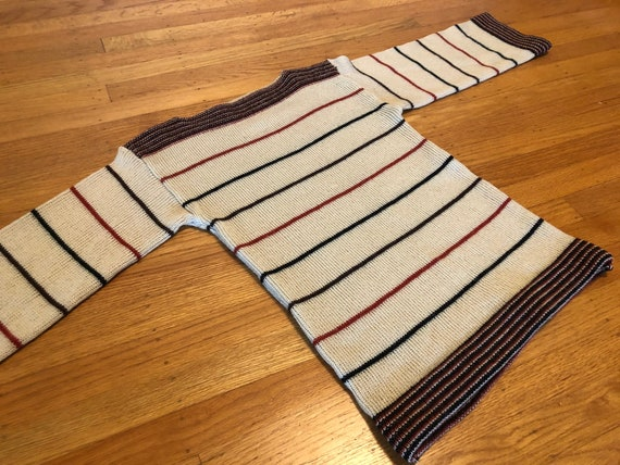 Striped 70s boatneck sweater