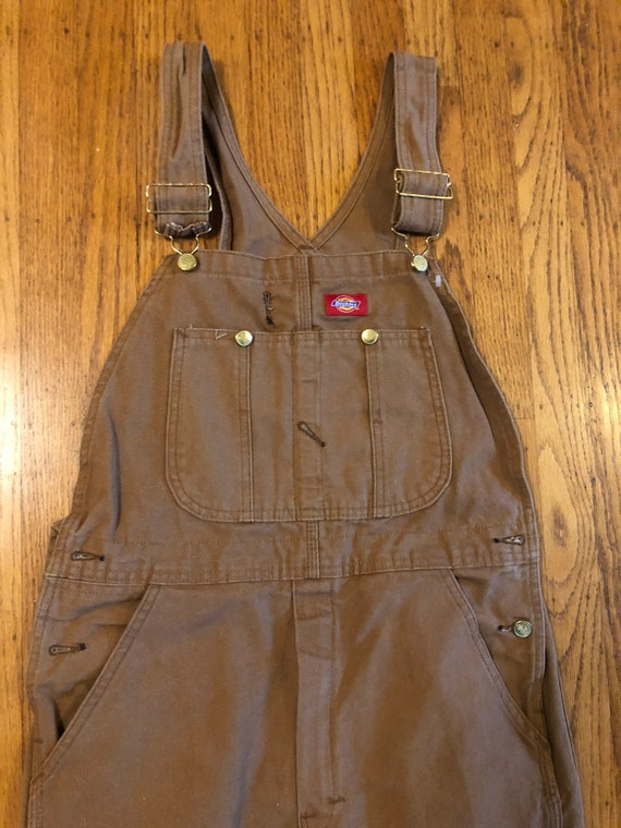 Dickies tan canvas work wear overalls