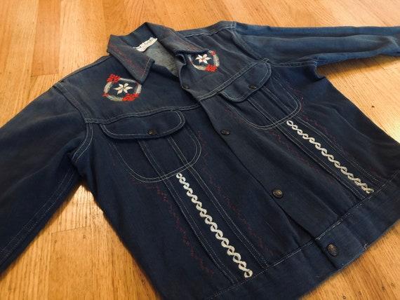 Embroidered 70s Denim Jacket - image 2
