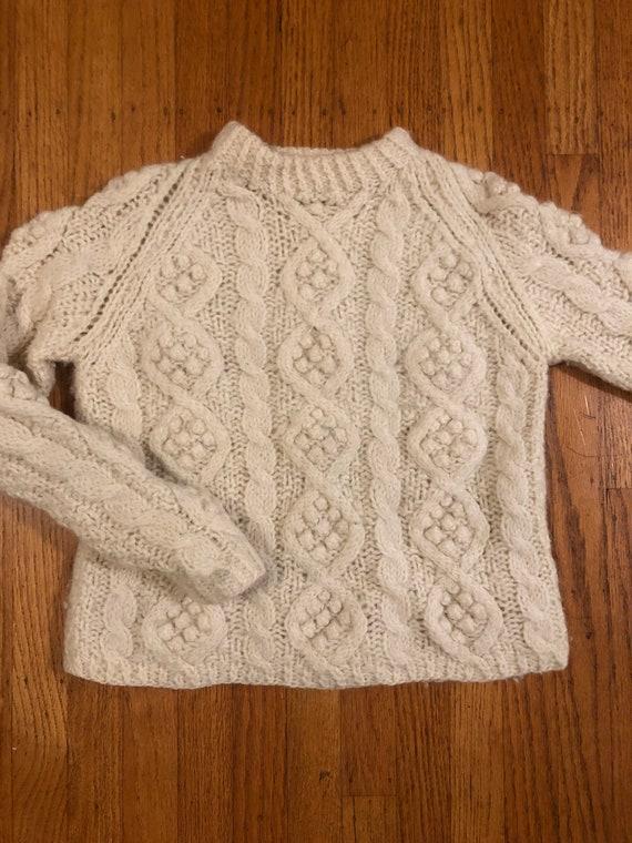 Vintage popcorn knit pullover