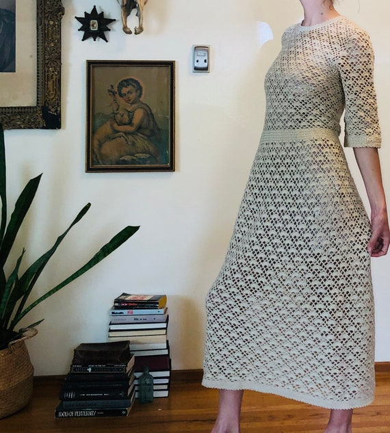 Amazing 70s Crochet dress