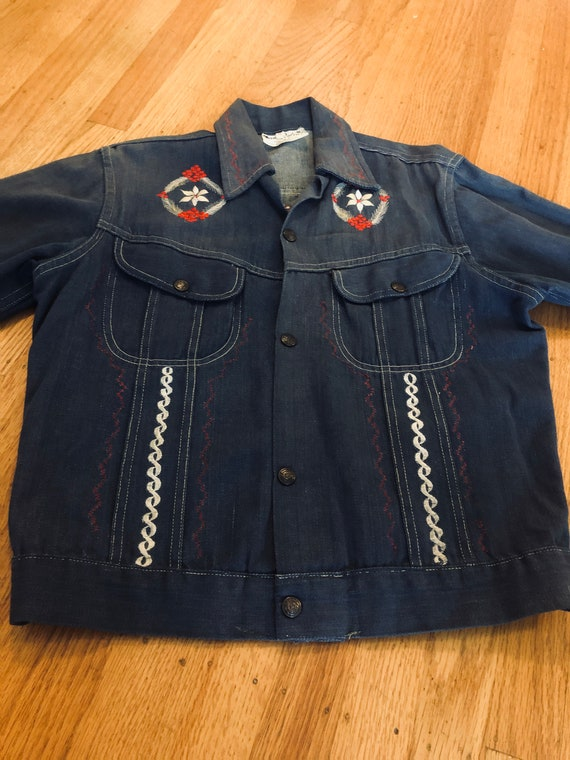 Embroidered 70s Denim Jacket