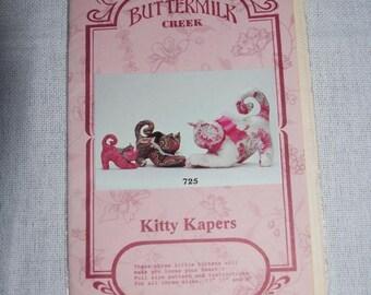 PRIMITIVE Folk Art Kitty Kapers Cats Kittens Paper Pattern OOP