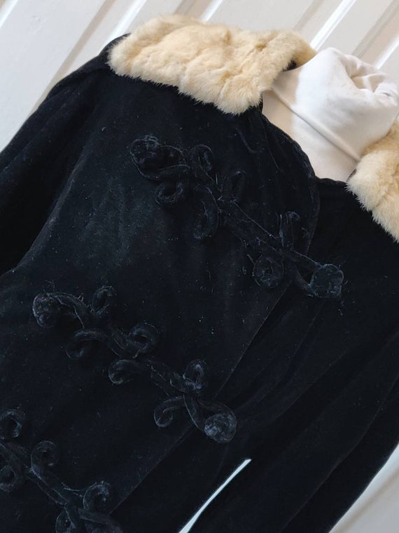 Stunning Military Style Edwardian Velvet Coat. 190