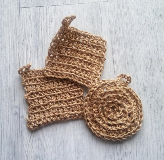 premium selection detailed pictures vast selection Crocheted hemp scrubbies