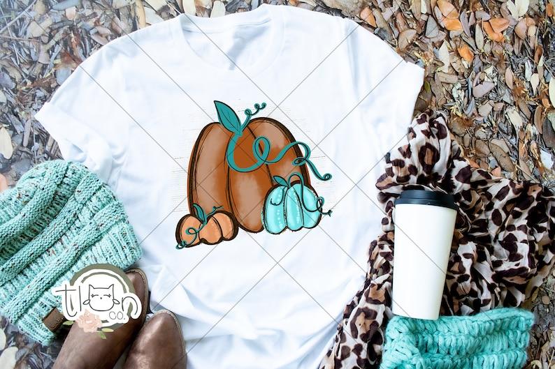Fall TShirts For Woman  Pumpkin Trio image 0