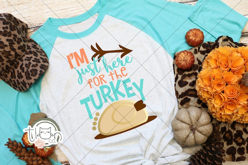 Fall TShirts For Woman  Raglan  I'm Just Here For The image 0