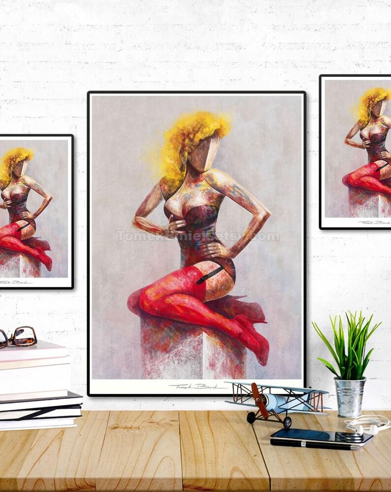 Pin-Up Girl. Original illustration art poster giclée print image 0