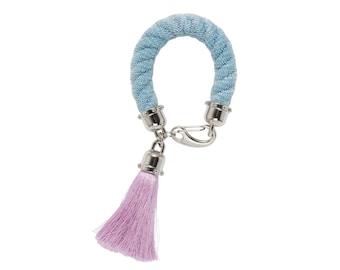 BUBBLE GUM statement rope bracelet with tassel. tassel jewelry. statement bracelet. rope bracelet. boho jewelry. bold design
