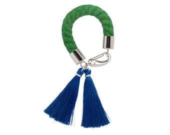 LANDSCAPE silk tassel bracelet. Indigo blue. Navy. Green. bold bracelet. tassel bracelet. rope bracelet. statement jewelry. silk bracelet.