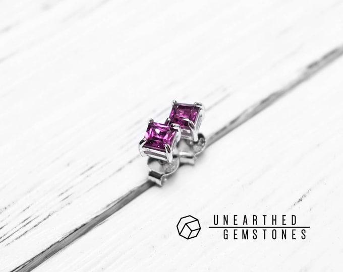 Purple Garnet Earrings