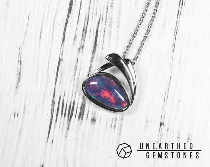 Rainbow Opal Necklace 18mar06
