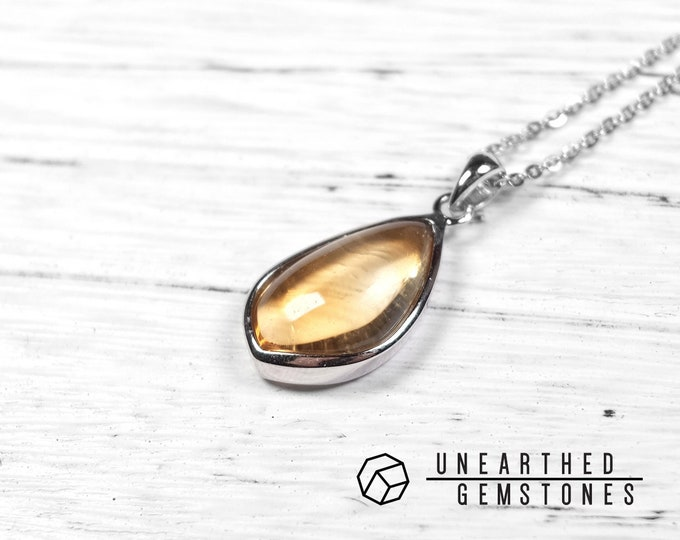 AAA Genuine Citrine Necklace