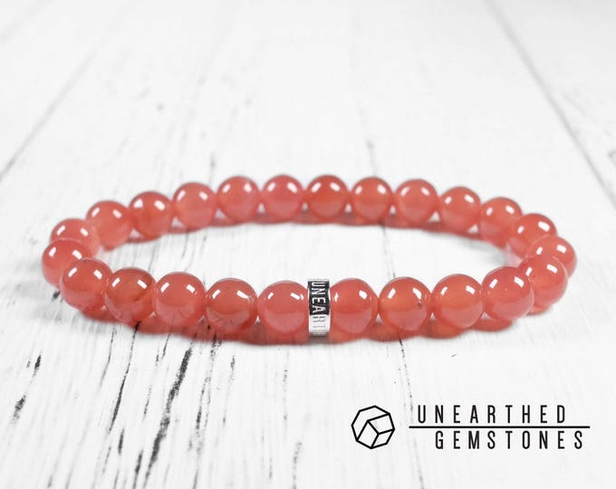Translucent Rhodochrosite Bracelet