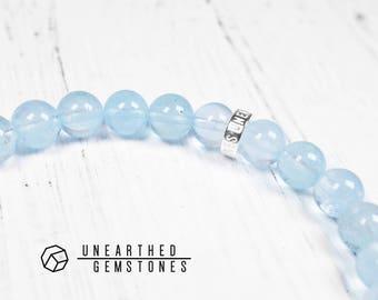 Genuine Blue Topaz Bracelet - December Birthstone Bracelet, Precious Gemstone Bracelet, Natural Crystal Bracelet