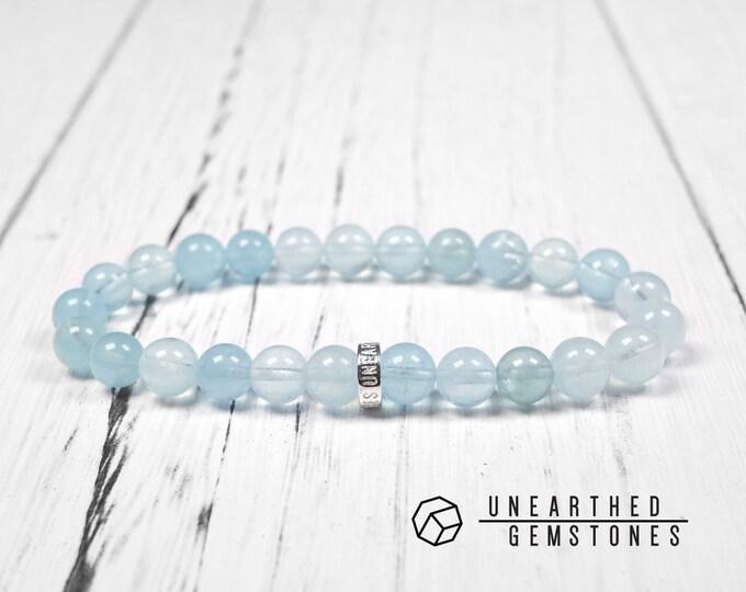 Translucent Aquamarine Bracelet