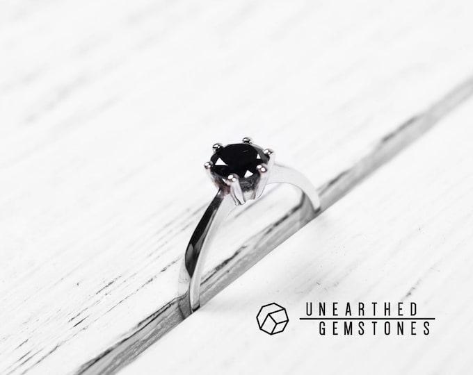 Size 8 Black Spinel Ring