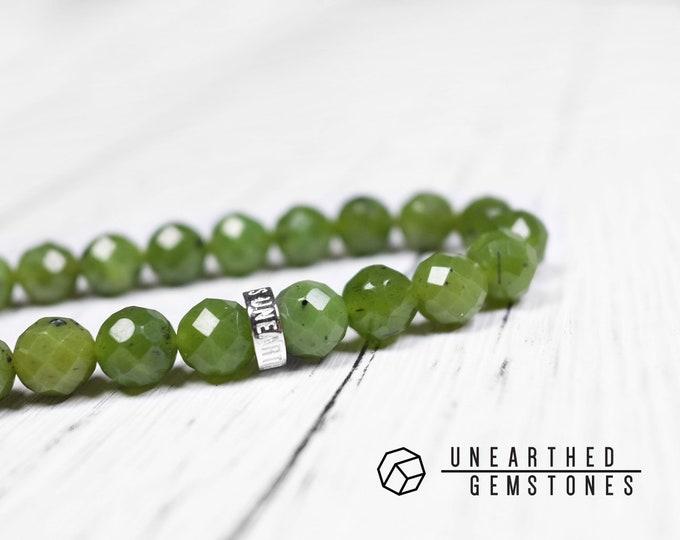 Faceted Nephrite Bracelet