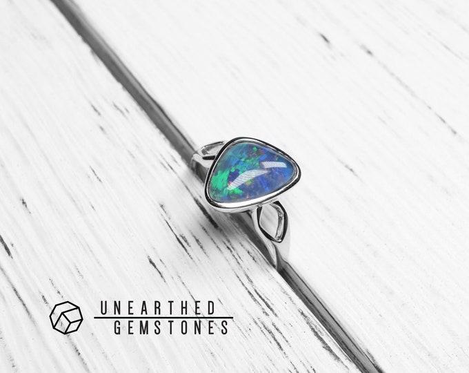 Size 7.5 Rainbow Opal Ring 17sep7504