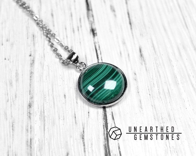 AAA Malachite Circle Necklace