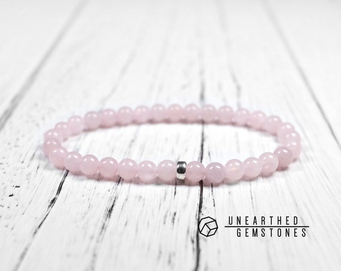 6mm Rose Quartz Bracelet