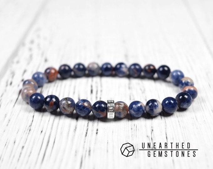 Orange Blue Sodalite Bracelet