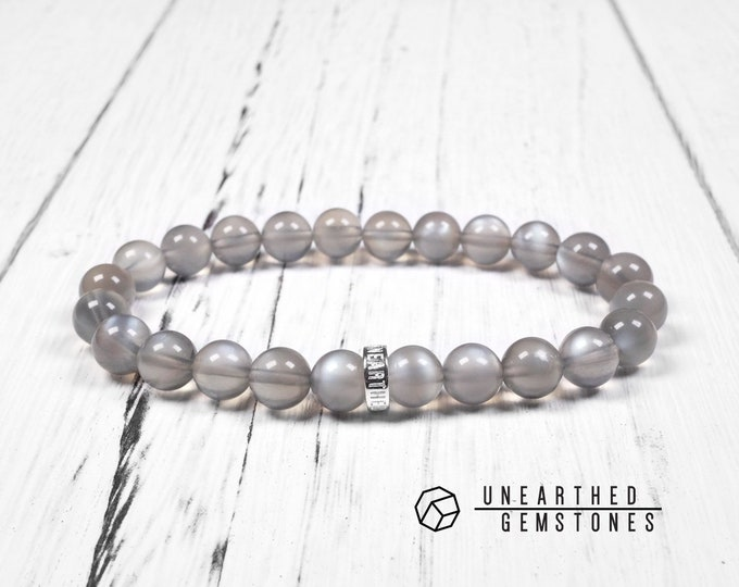 Translucent Grey Sunstone Bracelet