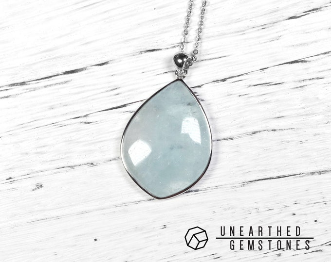 Big Aquamarine Necklace