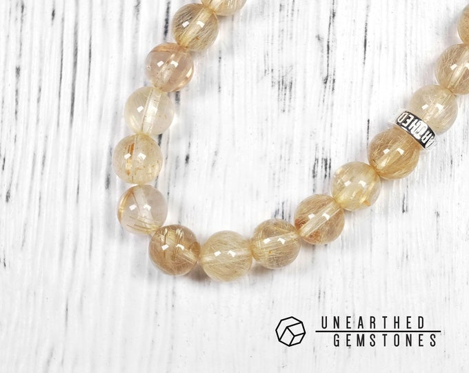 Gold Rutilated Quartz Bracelet