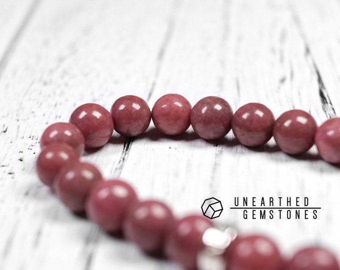 Dark Red Rhodonite Bracelet