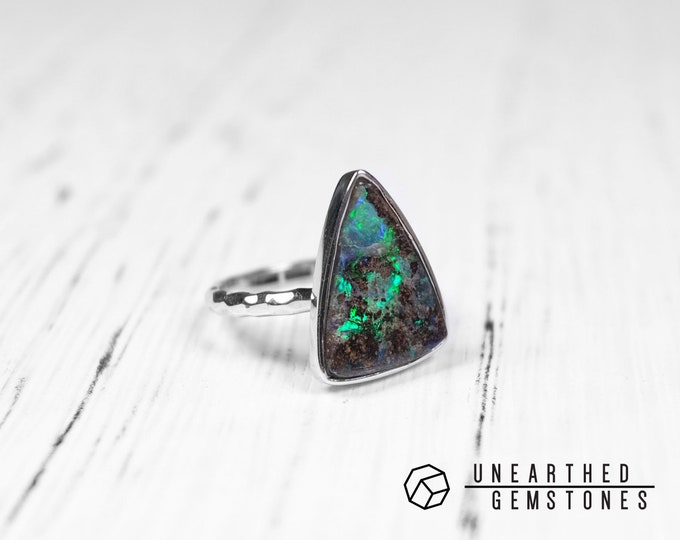 Size 6 Boulder Opal Ring 18jun601