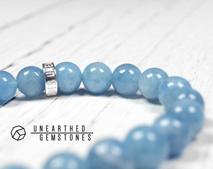 Deep Blue Aquamarine Bracelet