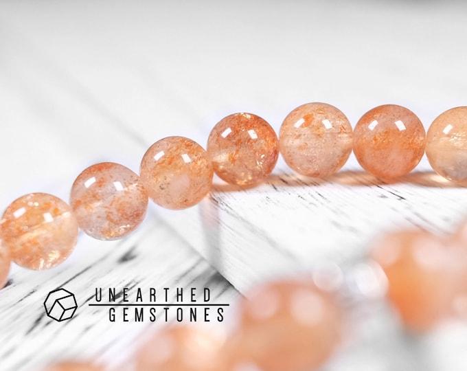 Translucent Sunstone Bracelet