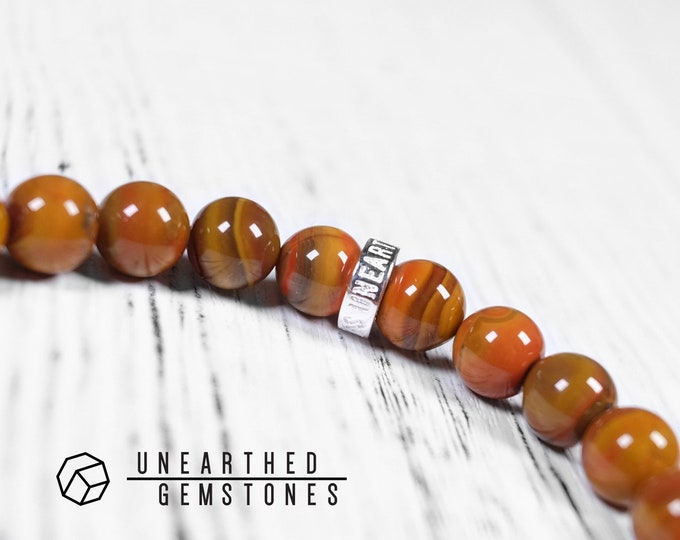 Red Lace Agate Bracelet, Zhanguo Agate
