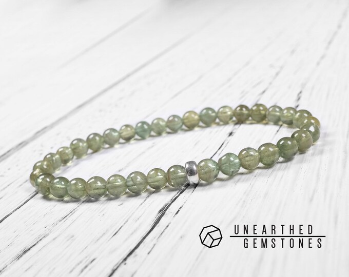 6mm Green Apatite Bracelet