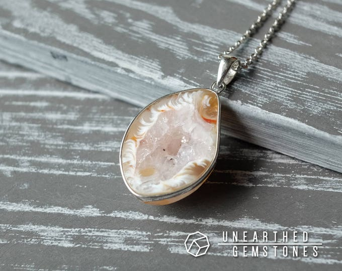 SALE Druzy Agate Necklace