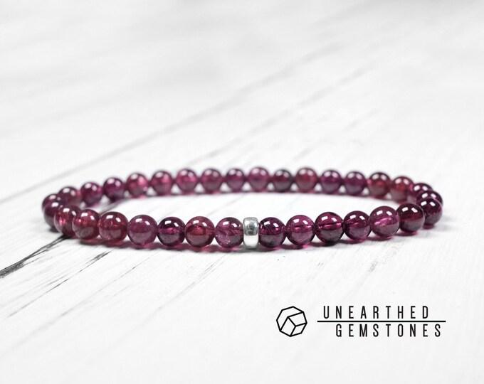 6mm Purple Garnet Bracelet