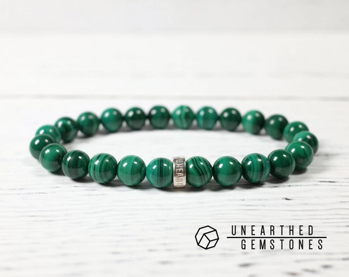 AAA Natural Malachite Bracelet