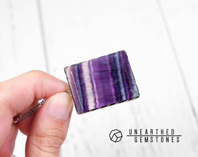 Dark Rainbow Fluorite Necklace