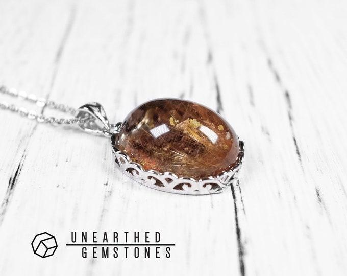 Rutilated Lodolite Necklace