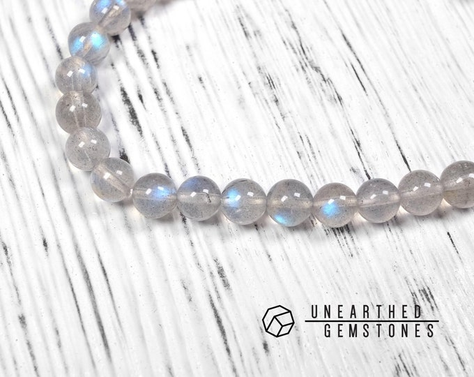 6mm Blue Flash Labradorite Bracelet
