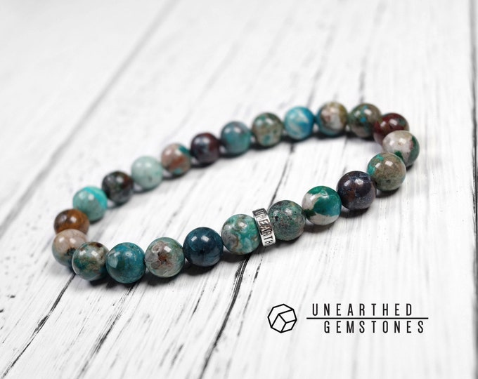 Chrysocolla with Cuprite Bracelet