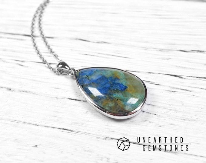 Chrysocolla Quartz Necklace