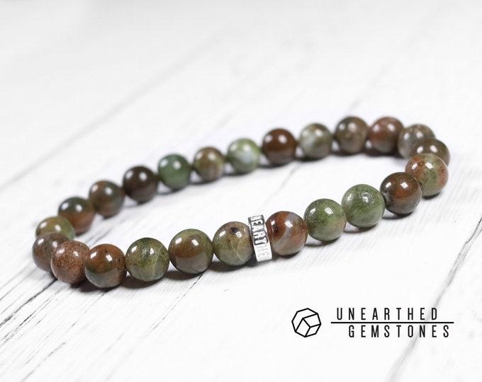 Green Brown Opal Bracelet
