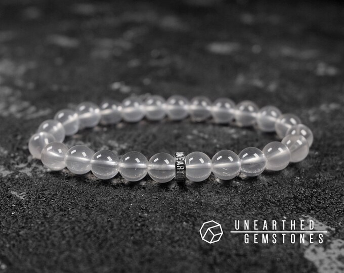 Clear White Chalcedony Bracelet