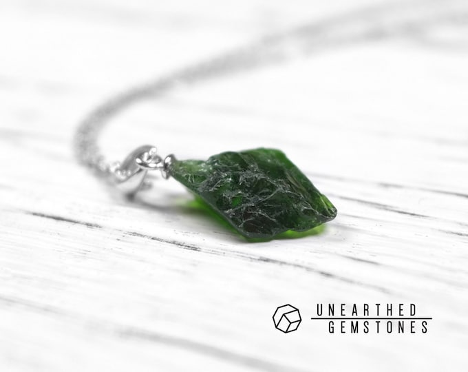 Raw Chrome Diopside Necklace